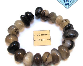 Black Onyx Assorted Nugget Beads, Sold per 7 1/2 inches Strand, 1068-27