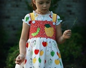 Apple Picking/Back to School Boutique Appliqued Dress Custom Size AnthologyInc