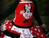 Christmas Holiday Twirl Skirt Set Custom Boutique AnthologyInc