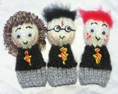 Harry Potter Handknitted Finger Puppets