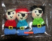 Pirate Handknitted Finger Puppets