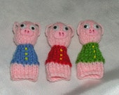The 3 Little Pigs Handknitted Finger Puppets