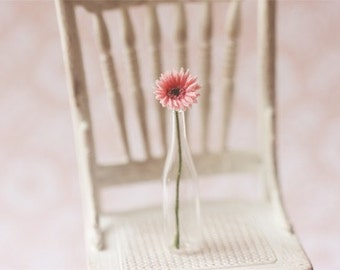 Dollhouse Miniature Flowers - Gerbera Daisy Light Pink