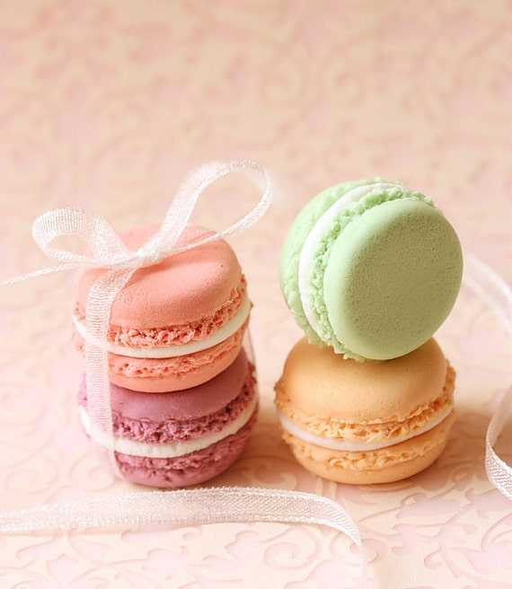 Dessert Jewelry - French Macaron Ring (Colors of Flowers Series) - Gift Under 25