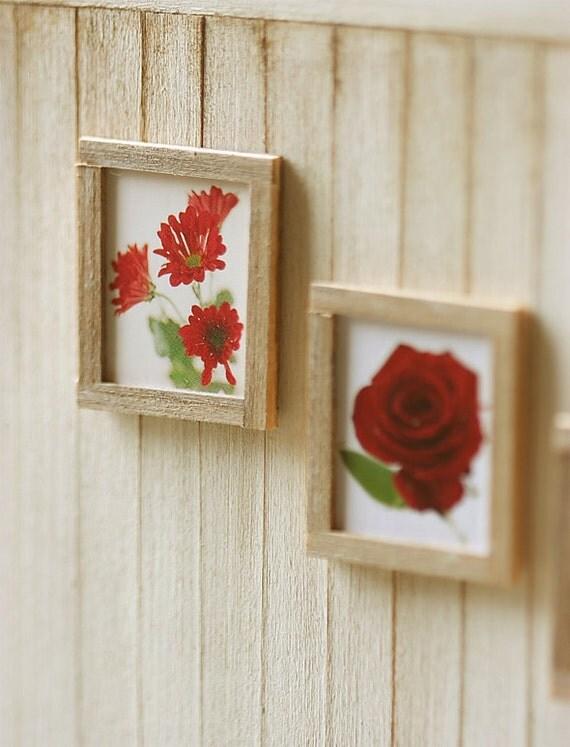 Dollhouse Miniature - Wall Frame Art in 1/12 Dollhouse Miniature Scale