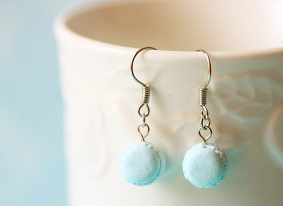 Macaron Earring in Powder Blue - Gift For Her