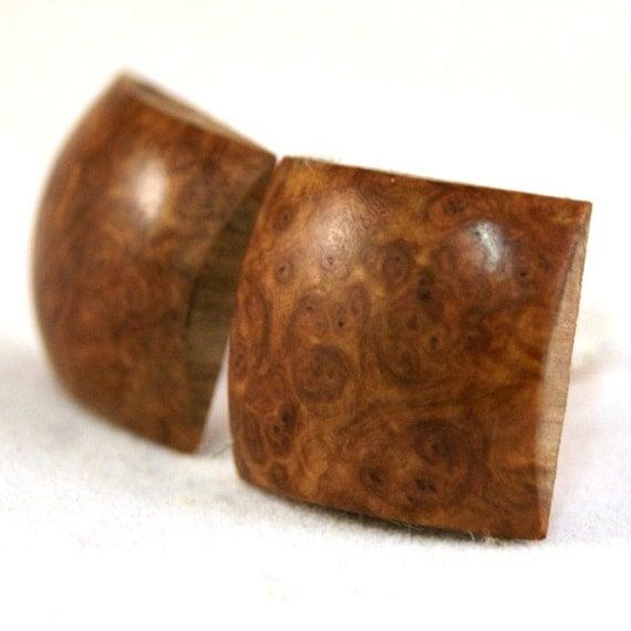CLEARANCE: Australian Corrugata Burl Wooden Cufflinks (CL-257)