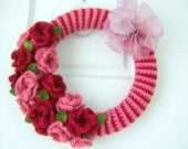 Handmade Victorian Colored Autumn Crocheted Wreath