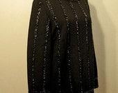 Vintage Black Sequin Mini Dress Shirt