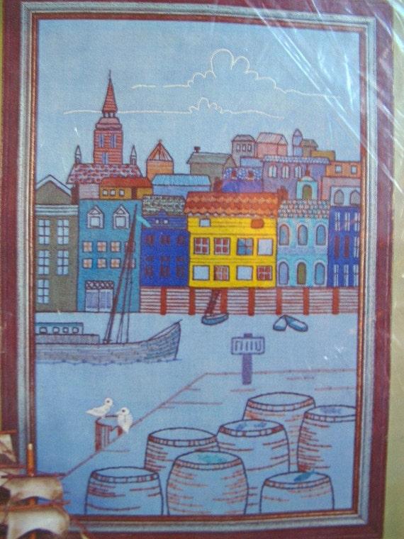 Vintage Scandinavian Crewel Needlework