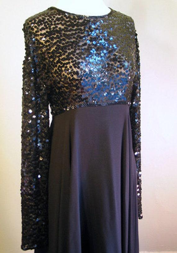 Vintage Black Silk Party Dress