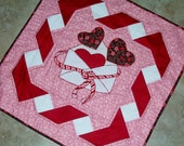 BE MINE Valentine Quilt Pattern from Quilts by Elena Wall Hanging