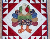 PDF Turkey Lurkey Thanksgiving Fall Quilt Pattern from Quilts by Elena