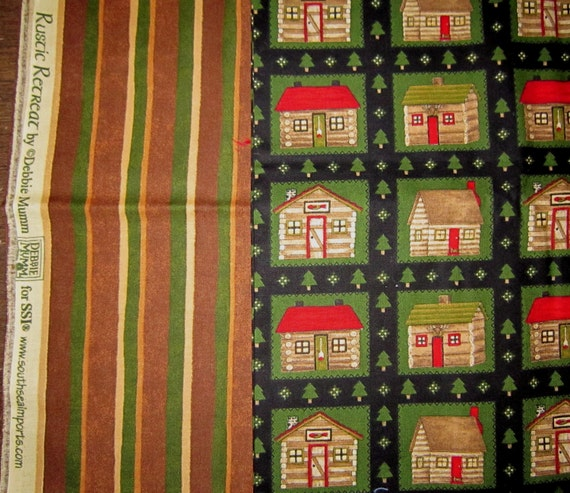 Inventory Reduction Sale Debbie Mumm CHRISTMAS FABRIC Rustic Retreat Yardage at a Fantastic Price