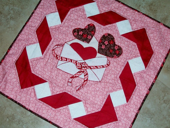 PDF Pattern Be Mine Valentine Quilt Pattern from Quilts by Elena Wall Hanging