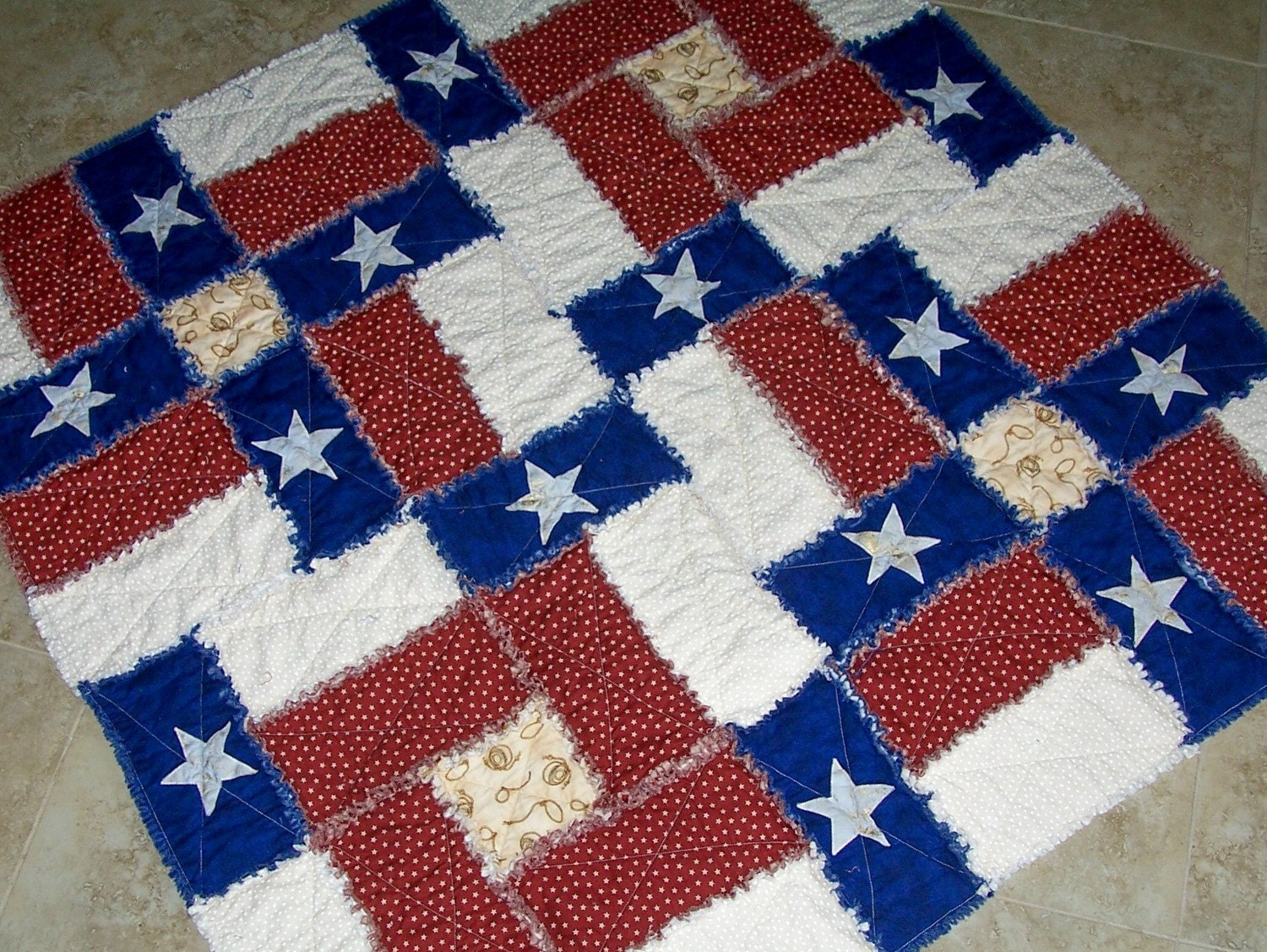 PDF Pattern TEXAS FLAG Rag Quilt Pattern Can be made with : rag quilt patterns - Adamdwight.com