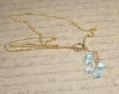 Ocean Blue faceted Blue topaz Necklace