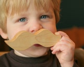 Sale Today Little Alouette Wee Wood Moustache TEETHING TOY natural ORGANIC play for baby and toddler infant