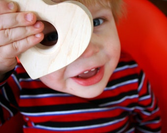 Wee Heart TEETHING toy -organic natural wooden teether for baby and toddler Valentines Day wood rules
