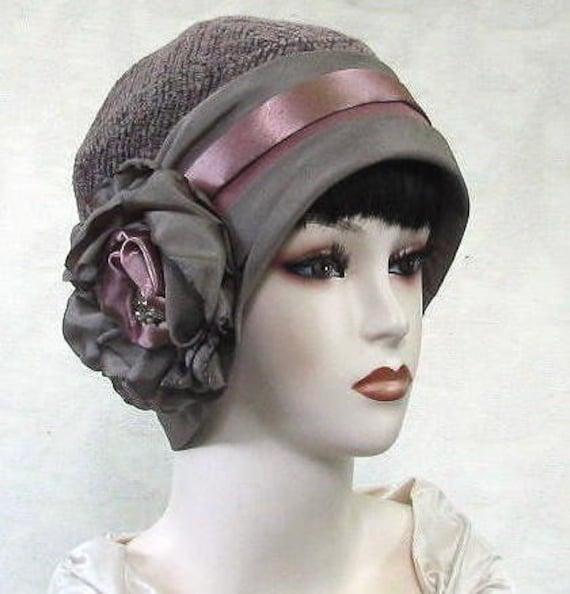Womens 1920's Gatsby Art Deco Vintage Style Cloche Hat