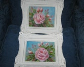 Pair of Small vintage Frames with original oil paintings by Carole deWald