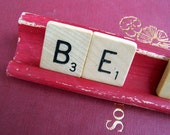 Be Jolly Red Christmas Scrabble Sign