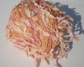 Orange Novely Yarn Multicolored Ribbon Textured Liberty Trends Yarn Peach Gold Creamy Orange
