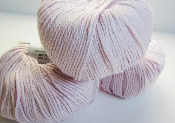 Modal Knitting Yarn : Baby pink yarn balls bunny cotton modal angora all