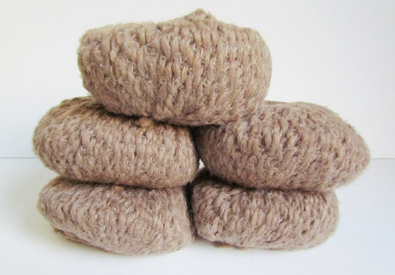 4 Balls Brown Yarn Plymouth Earth Rainshadow Yarn Baby Alpaca Rayon Blend Worsted Weight Wool Yarn Natural fiber Color 3