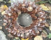 Pine Cone Wreath Holiday Wall Decor