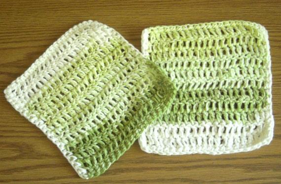Crochet Dish Cloth Greens