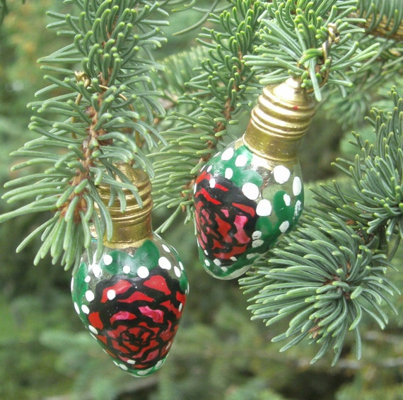 Lightbulb Ornament - Christmas Ornaments - Rose Christmas Ornaments ...