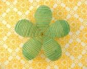 Hair Clip or Brooch - Green Beret  -  Beaded Flower Hair Clip - Ododo Originals Bridal