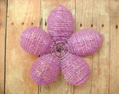 Hair Clip or Brooch Pin Beaded Flower  - Lavender Belle - Ododo Originals