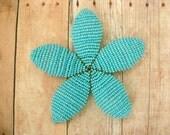 Beaded Flower Hair Clip or Brooch Pin - Bluebird - Floral Hair Clip - Ododo Originals Bridal