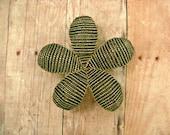 Small Hair Clip or Brooch - Mink - Beaded Flower Hair Clip - Ododo Originals