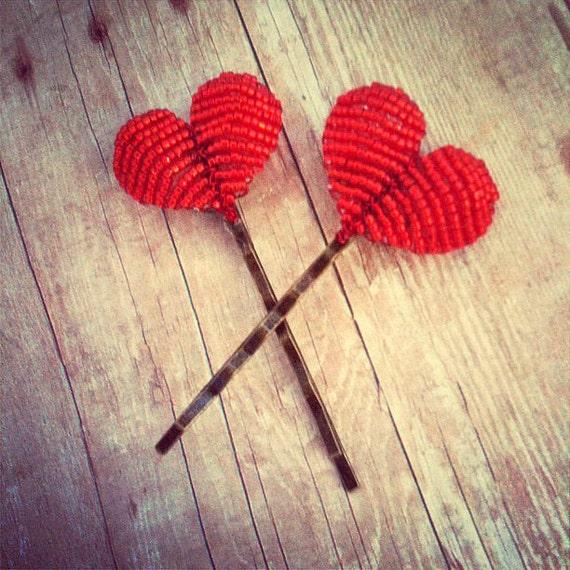 Cross My Heart - Hair Accessories - Heart Bobby Pins - Ododo Originals