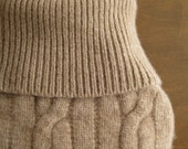 Hot Water Bottle Cover - Latte Cashmere Cable Knit