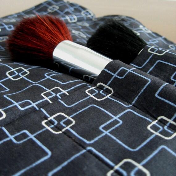 Makeup Brush Roll - Black