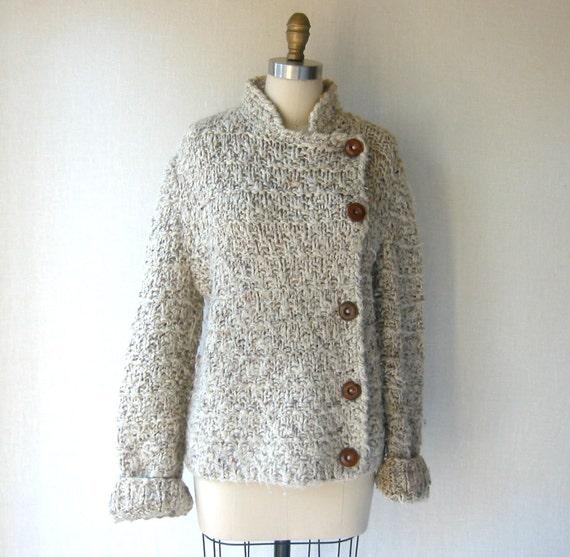 vintage cardigan / oatmeal / m-l