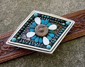 Mosaic Belt Buckle-PEARLS OF WISDOM-One of a Kind Artisan
