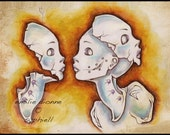 ACEO Limited Edition Archival Matte Print, 'Twin Dolls'