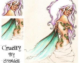 Fantasy Drawing 'Cruelty', Original