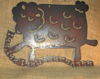 Baaaaaaa-Metal Art Sign-Sheep-Lamb