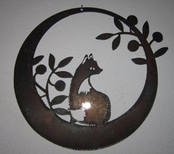 Joy Metal Wall Decor : Fox in the olives metal art steel wall