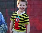 Boys Toddler T Shirt RED Monster Tee
