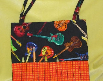 Art Crayon Tote It All Guitars