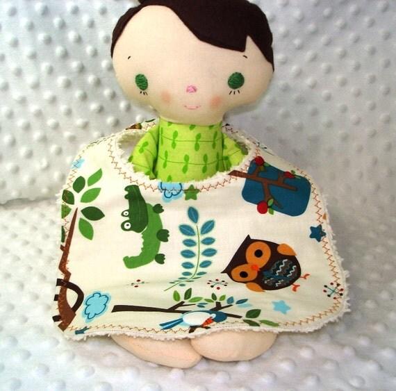 Designer Baby Bib-Woodland Animals