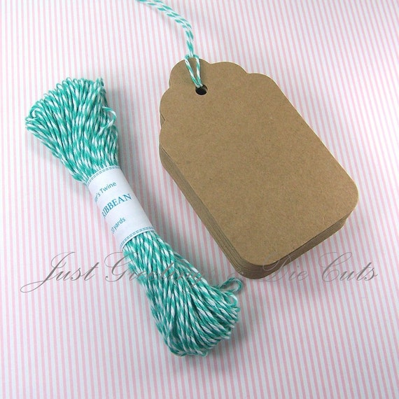 Reserved Listing - 65 Large Kraft Tags & 26 Yards of Baker's Twine
