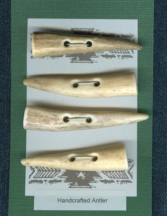 Antler Tip 4 Toggle Button two-hole Toggles set B25